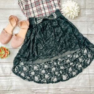 Excuse Me Miss Lace High Low Skirt Size Small